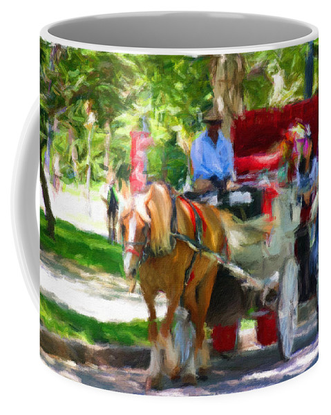 Carriage Horse Coffee Mug featuring the photograph Carriage Colors by Alice Gipson