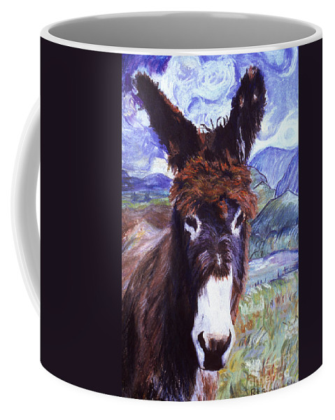 Pat Saunders-white Paintings Coffee Mug featuring the mixed media Carrot Top by Pat Saunders-White