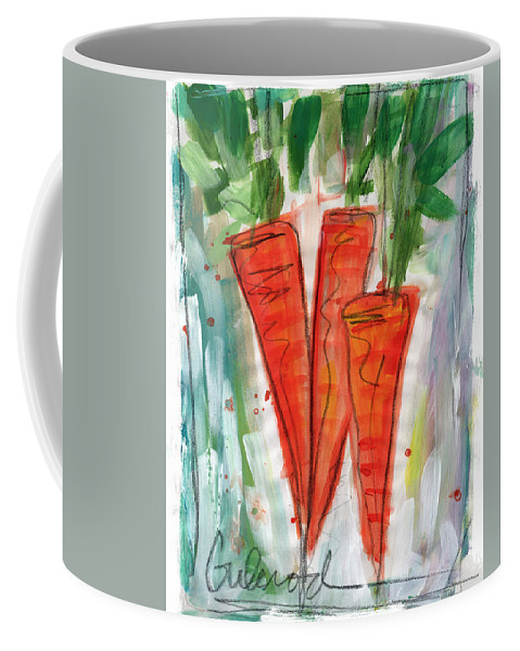 Carrots Coffee Mug featuring the painting Carrots by Linda Woods