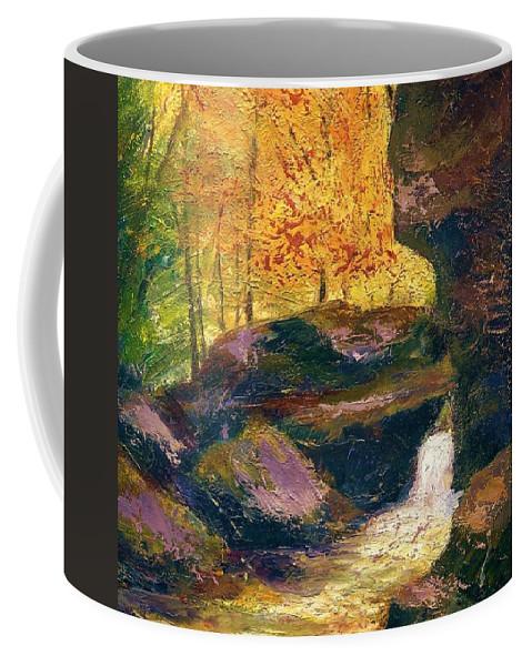 Kentucky Coffee Mug featuring the painting Carter Caves Kentucky by Gail Kirtz