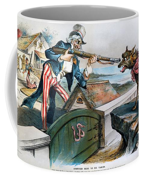 1893 Coffee Mug featuring the photograph Cartoon: Panic Of 1893 by Granger