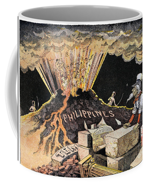 1899 Coffee Mug featuring the photograph Cartoon: Philippines, 1899 by Granger