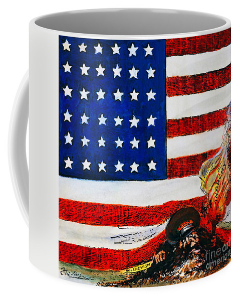 1919 Coffee Mug featuring the photograph Cartoon: Red Scare, 1919 by Granger