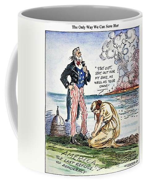 1939 Coffee Mug featuring the photograph Cartoon: U.s. Intervention by Granger