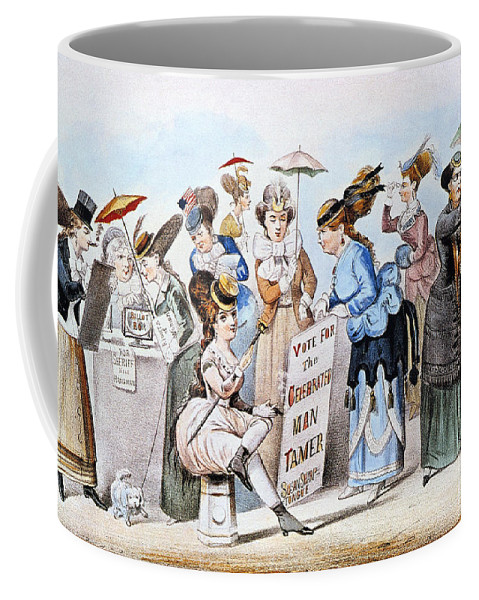 1869 Coffee Mug featuring the photograph Cartoon: Womens Rights by Granger