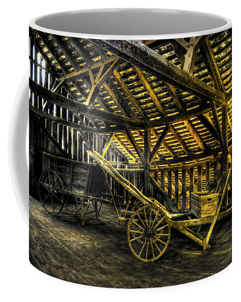 Farm Coffee Mug featuring the photograph Carts Before The Horse by Scott Wyatt