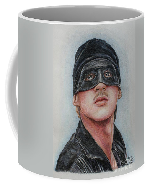 Cary Elwes Coffee Mug featuring the drawing Cary Elwes / Westley / The Princess Bride by Christine Jepsen