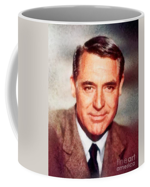 Hollywood Coffee Mug featuring the painting Cary Grant By John Springfield by John Springfield