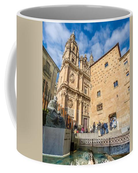 Architecture Coffee Mug featuring the photograph Casa De Las Conchas In Salamanca by JR Photography