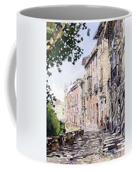Albaicin Coffee Mug featuring the painting Casas Antiguas Del Albaicin Granada by Margaret Merry