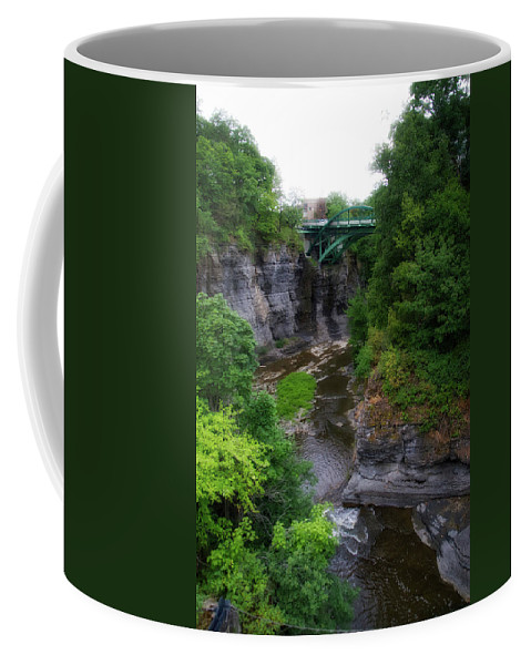 New York Coffee Mug featuring the photograph Cascadilla Gorge Cornell University Ithaca New York 01 by Thomas Woolworth