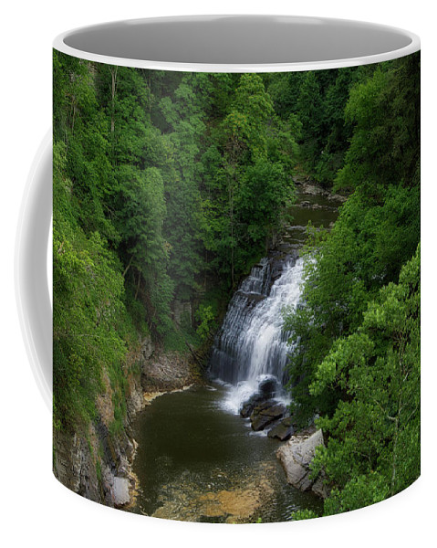 Cornell University Coffee Mug featuring the photograph Cascadilla Waterfalls Cornell University Ithaca New York 02 by Thomas Woolworth