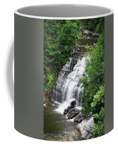 Cornell University Coffee Mug featuring the photograph Cascadilla Waterfalls Cornell University Ithaca New York 03 by Thomas Woolworth