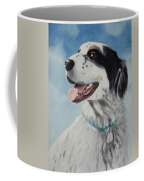 Dog Coffee Mug featuring the painting Casey by Marilyn Jacobson