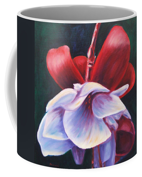 Fuchsia Coffee Mug featuring the painting Casey's Way by Shannon Grissom