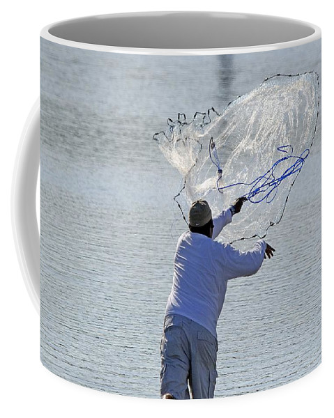 Nature Coffee Mug featuring the photograph Cast Net by Kenneth Albin