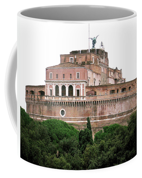 Castel Sant'angelo Coffee Mug featuring the photograph Castel Sant'angelo by Ilaria Andreucci