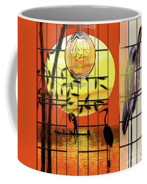 Chinese Art Coffee Mug featuring the painting Castigated Reflection-no Longer In The Light by Reggie Duffie