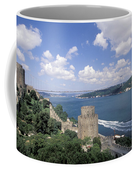 Castle Coffee Mug featuring the photograph Castle At Rumelihisan Along Side by Richard Nowitz