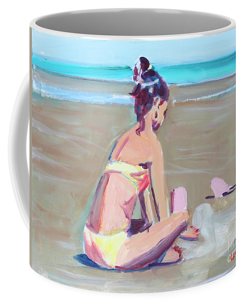 Girl Coffee Mug featuring the painting Castle Building by Candace Lovely