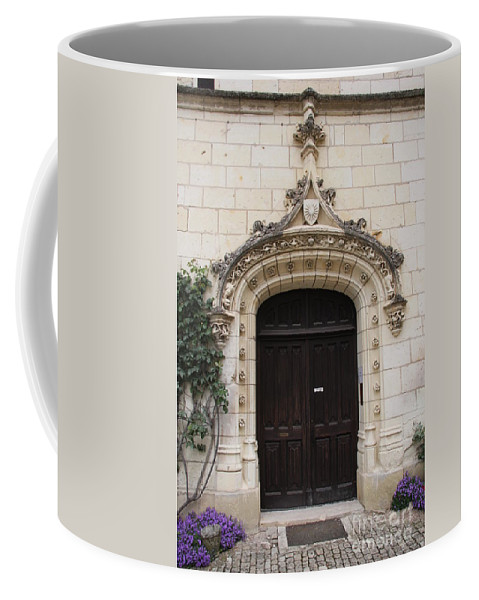 Door Coffee Mug featuring the photograph Castle Entrance Door by Christiane Schulze Art And Photography