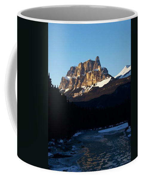 Ice Coffee Mug featuring the photograph Castle In The Sky by Greg Hammond