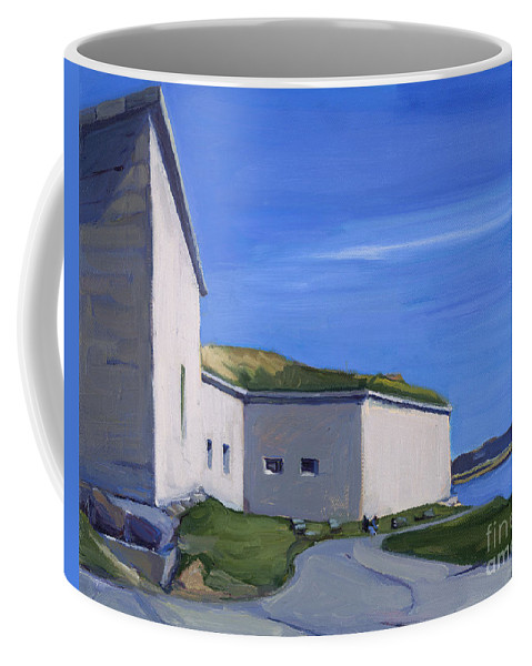 Castel Island Coffee Mug featuring the painting Castle Island by Deb Putnam