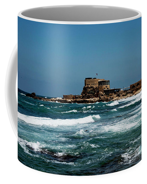 Castle Of Herod The Great Coffee Mug featuring the photograph Castle Of Herod The Great by Mae Wertz