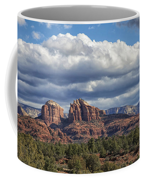 Arizona Coffee Mug featuring the photograph Castle Rock by Phill Doherty