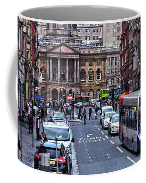 Liverpool Coffee Mug featuring the photograph Castle Street - Liverpool by Doc Braham
