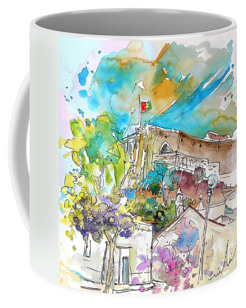 Castro Marim Portugal Algarve Painting Travel Sketch Coffee Mug featuring the painting Castro Marim Portugal 10 by Miki De Goodaboom