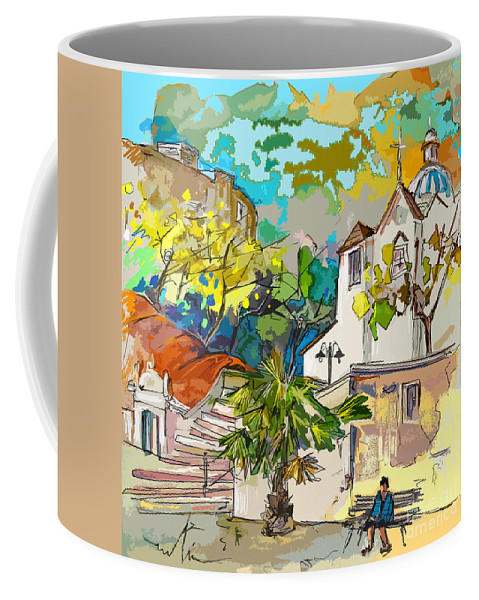 Castro Marim Portugal Algarve Painting Travel Sketch Coffee Mug featuring the painting Castro Marim Portugal 13 Bis by Miki De Goodaboom