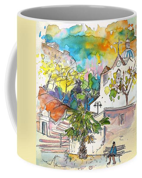 Castro Marim Portugal Algarve Painting Travel Sketch Coffee Mug featuring the painting Castro Marim Portugal 13 by Miki De Goodaboom
