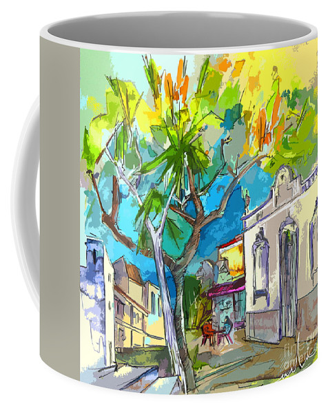 Castro Marim Portugal Algarve Painting Travel Sketch Coffee Mug featuring the painting Castro Marim Portugal 14 Bis by Miki De Goodaboom
