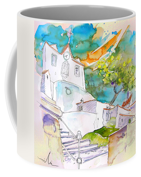 Castro Marim Portugal Algarve Painting Travel Sketch Coffee Mug featuring the painting Castro Marim Portugal 17 by Miki De Goodaboom