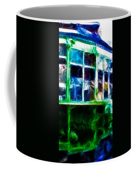 California Coffee Mug featuring the photograph Castro Street Car In San Francisco 2 Of 3 by Tommy Anderson