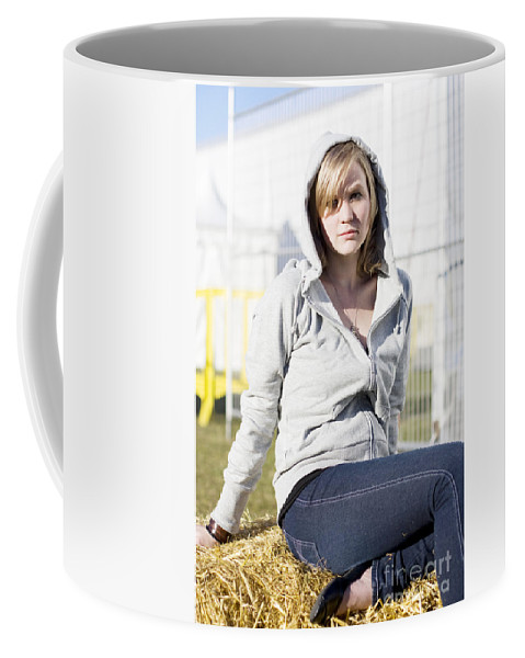 Active Coffee Mug featuring the photograph Casual Country Girl by Jorgo Photography - Wall Art Gallery
