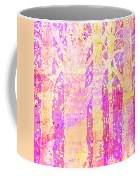 Abstract Coffee Mug featuring the digital art Cat And Mouse by Rachel Christine Nowicki