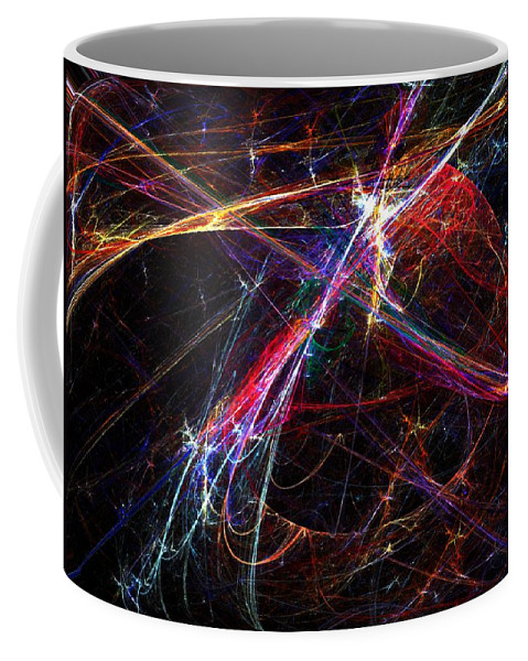 Abstract Digital Painting Coffee Mug featuring the digital art Cat Toy by David Lane