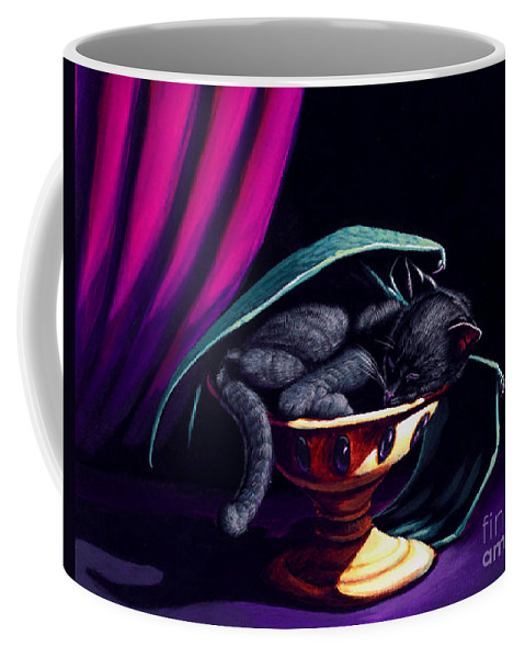 Cat Coffee Mug featuring the painting Catabat Nap by Stanley Morrison