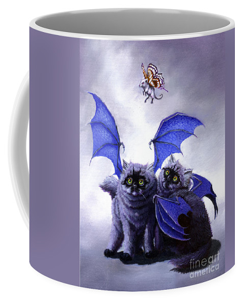 Fantasy Coffee Mug featuring the painting Catabat Snack by Stanley Morrison