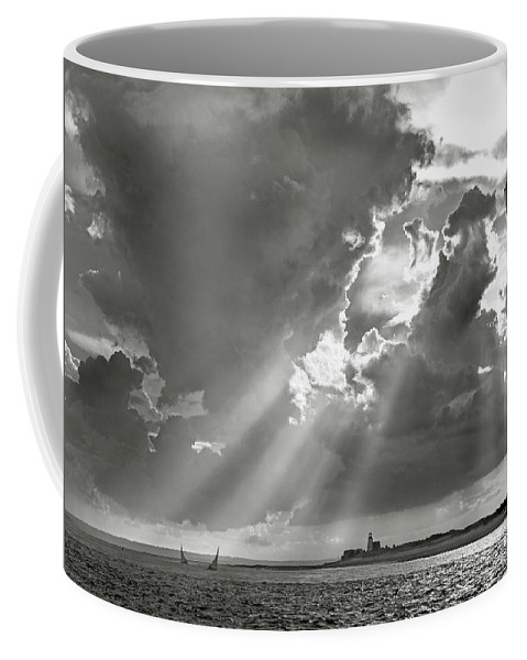 Catboats Coffee Mug featuring the photograph Catboats Sailing In Barnstable Harbor by Charles Harden