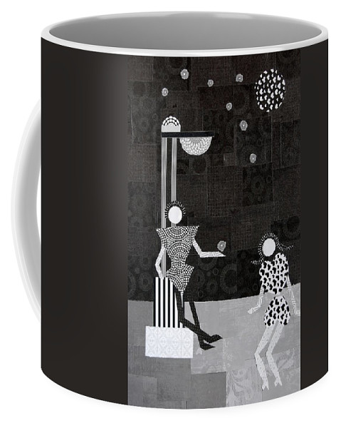 Stars Coffee Mug featuring the mixed media Catch A Falling Star by Charla Van Vlack