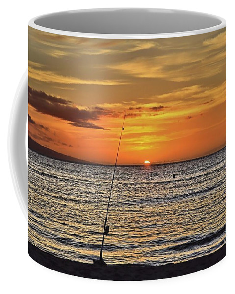 Sunset Coffee Mug featuring the photograph Catch of the Day by DJ Florek