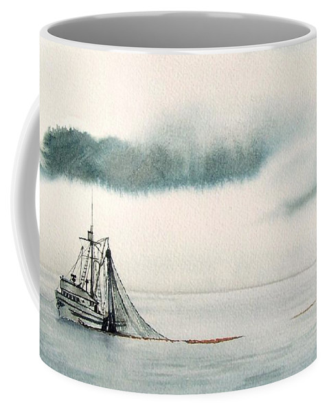 Fishing Boat Coffee Mug featuring the painting Catch Of The Day by Gale Cochran-Smith