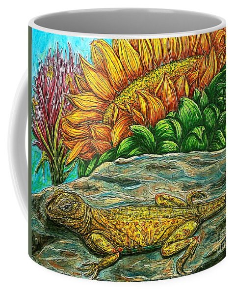 Animals Coffee Mug featuring the painting Catching Some Rays by Kim Jones