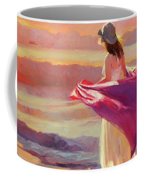 Coast Coffee Mug featuring the painting Catching the Breeze by Steve Henderson