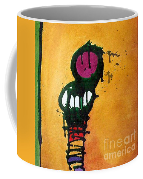 Insect Coffee Mug featuring the painting Caterpillar by Marlene Burns