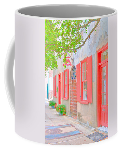 Catfish Row Coffee Mug featuring the photograph Catfish Row Chs by Dale Powell