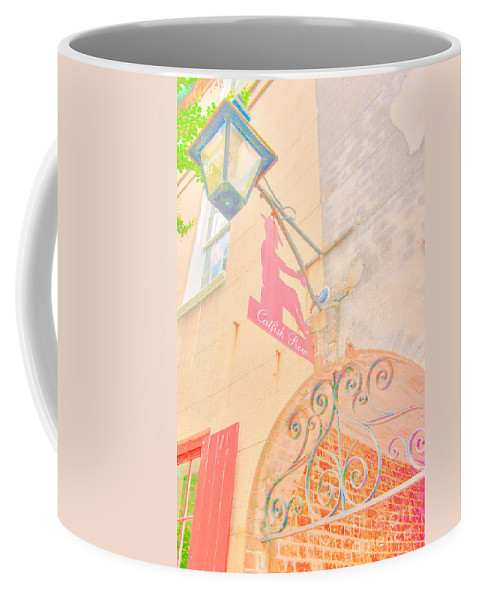 Catfish Row Coffee Mug featuring the photograph Catfish Row Entrance Chs by Dale Powell